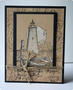 handmade cards with lighthouses on pinterest - Google Search