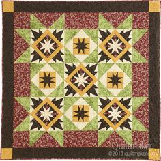 QM Rocks the Blocks: Giveaways today on Quilty Pleasures. This is Lucky Stars by Debbie Caffrey. http://www.quiltmaker.com/blogs/quiltypleasures/2013/03/qm-rocks-the-blocks-giveaways-2/