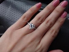 Post your heart shaped engagement rings « Weddingbee Boards