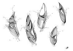 Le Creazioni di Kiara: crazy for DOODLING #8 ...FEATHERS... piume piumette e piumaggi!