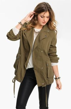 Rubbish® Oversized Army Jacket (Juniors) available at #Nordstrom