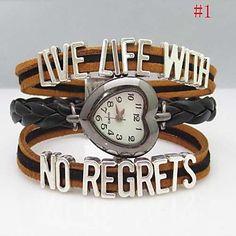 Women's Letter Cross Leather Weave Band Quartz Analog Bracelet  Watch(Assorted Colors) – USD $ 8.99