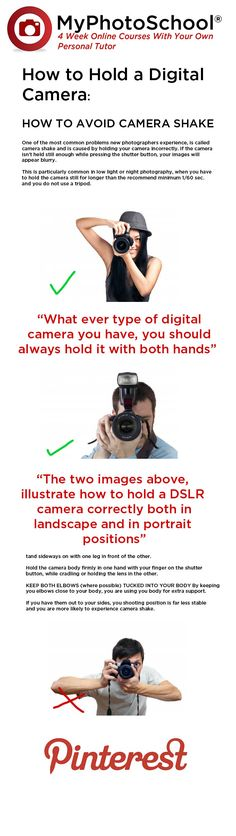 How to hold a Digital Camera to Avoid Camera Shake