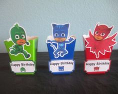 12 PJ Masks Popcorn Boxes  Inspired by PJ Masks  Party Favor