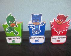PJ Masks 1' round bottle cap images. PJ Masks por KidsCornerJewels