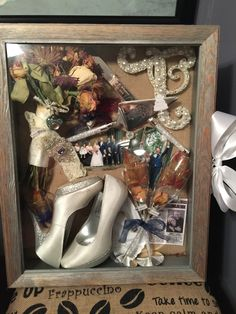 My wedding shadow box ... Turned out perfectly!