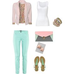 "I love simple and pretty outfits    ""pretty"" by luzmliriano on Polyvore"