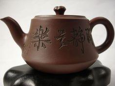 Engraved Yixing Tea pot - China