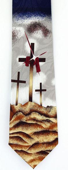 Jesus heaven risen mens necktie religious christian easter cross calvary crosses mens necktie christian easter bible religious gift him tie new negle Gallery