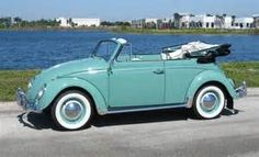 ... Past, Present And Future..,: Green 1962 Volkswagen Beetle Convertible
