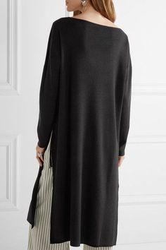 Elizabeth and James - Sienna Oversized Merino Wool-blend Dress - Black -