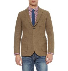 A Stock - UNSTRUCTURED SLIM-FIT DONEGAL TWEED BLAZER $584