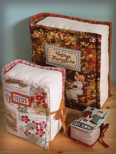 Book Pillows & Pincushion by PatchworkPottery, via Flickr