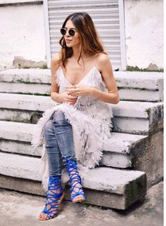 Dress over skinny jeans