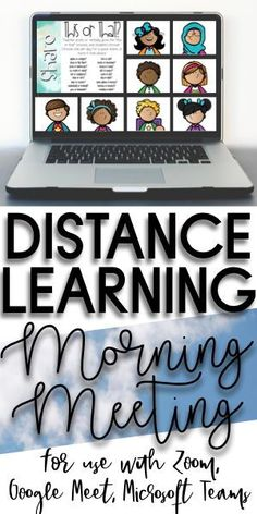 Great Morning Meeting set to use in a class video call for distance learning! 20 greetings, 20 shares, and 20 activities!