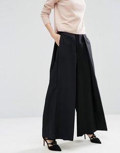251af856d ASOS WHITE Extreme Wide Leg Pant, $105 Wide Leg Trousers, Bones, Fashion  Online