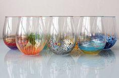 Cómo decorar vasos de vidrio con plumones de aceite | Solountip.com