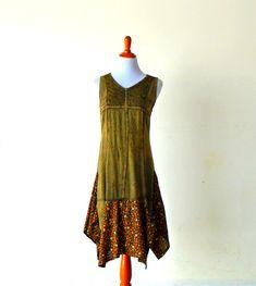 Size S-M Retro Vintage Harvest Tea Length Prairie Girl Dress