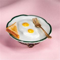 Limoges Breakfast Plate with Eggs Box The Cottage Shop