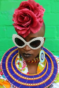 Hassan Hajjaj, colorful fashion editorial, fashion photography, black model…