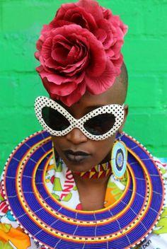 Hassan Hajjaj, colorful fashion editorial, fashion photography, black model…