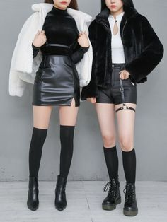 Matching Outfits Best Friend, Friend Outfits, Couple Outfits, Girl Outfits, Casual Outfits, Korean Girl Fashion, Ulzzang Fashion, Kpop Fashion Outfits, Korean Outfits