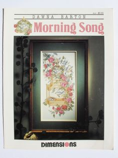 Morning Song by Dawna Barton. Dimensions Cross Stitch Patterns. 1991 by ArtVintageCraftShop on Etsy