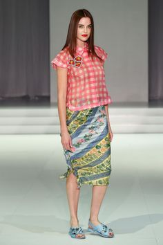 Gingham and florals at Easton Pearson