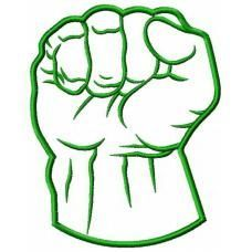 Hulk Green Fist Applique