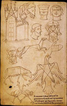 Villard de Honnecourt (XIIIe s.) | Tracés géométriques mnémotechniques | Paris, Bibliothèque nationale de France, Département des manuscrits, Français 19093, fol 36
