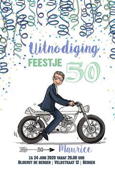 Grappige uitnodiging voor een 50ste verjaardag! Word jij binnenkort Abraham? Met deze kaart heb je de lachers op je hand.