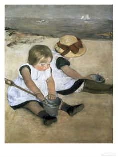 Mary Cassatt Children Playing On The Beach painting is shipped worldwide,including stretched canvas and framed art.This Mary Cassatt Children Playing On The Beach painting is available at custom size. National Gallery Of Art, Art Gallery, Art Plage, The Beach, Beach Fun, Beach Posters, Renoir, Fine Art, American Artists