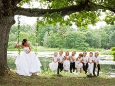 little bridesmaids and groomsmen flying Bridesmaids And Groomsmen, Bridesmaid Dresses, Wedding Dresses, Vintage Country, French Vintage, Crazy Kiss, Marrying My Best Friend, Garden Theme, Marry Me