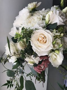 White Whimsical Bridal Bouquet :: The Vines Flower & Garden Shop