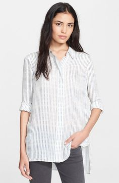 Vince Stripe Classic Shirt available at #Nordstrom