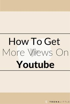"""Youtube isn't a platform where """"if you build it they will come"""", to get views on Youtube you have to work on for it!!  Get more views on Youtube by watching my top three tips and see your Youtube views grow.  One way to get views on Youtube is by promoting it everywhere!  Click through to watch the video to get the rest of my tips for how to increase Youtube views!"""