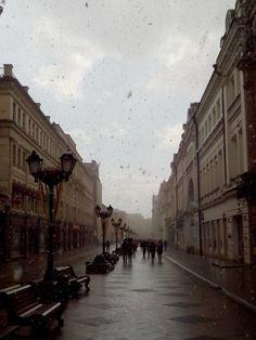 Снег 19 апреля 2015, улица Никольская