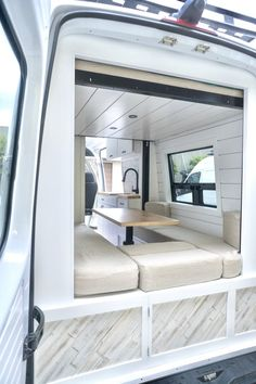 Converted Mercedes Sprinter Van 3500 Fitted to House Family of Four - van life Van Conversion For Family, Van Conversion Interior, Van Interior, Van Conversion Bed Ideas, Interior Ideas, Sprinter Van Conversion, Camper Van Conversion Diy, Mercedes Sprinter Camper Conversion, Motorhome Conversions