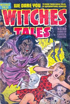 Comic Book Cover For Witches Tales #15