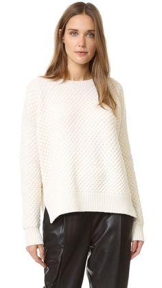 Vince Honeycomb Crew Sweater   SHOPBOP