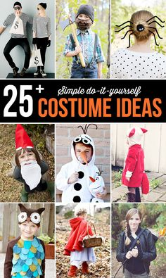 Easy, inexpensive ideas that would make great last minute costumes if you are in a pinch this Halloween! Cute Halloween Costumes, Halloween Photos, Halloween Spider, Halloween Activities, Holidays Halloween, Diy Costumes, Halloween Kids, Halloween Treats, Happy Halloween