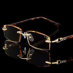 Rimless Reading Glasses, Rimless Glasses, Eyeglass Frames For Men, Versace, Basket Mode, Fashion Eye Glasses, Men Eyeglasses, Womens Glasses, Glasses Frames