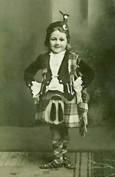 Highland dancer Mima Cooper , 1930s