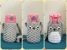물병 코지 3단 변신 성공!! 어째 미완성일 때가 더 나아보이냐..-.-;; #토토로 #물병코지 #물병가방 #핸드메이드 #코바늘 Crochet Box, Quick Crochet, Crochet Girls, Freeform Crochet, Cute Crochet, Crochet Motif, Crochet Crafts, Crochet Projects, Crochet Patterns