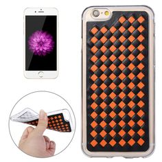 79b7f4a57358   1.78 For iPhone 6   6s Knit Pattern PU Leather + TPU Protective Case (Orange)