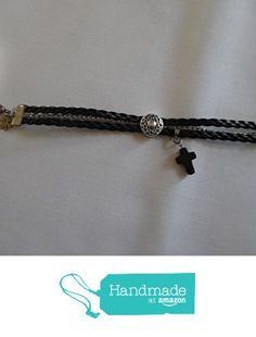 Créa'martine. Bracelet homme en cuir tressé noir et chaîne en acier inoxydable. à partir des Créa'martine https://www.amazon.fr/dp/B01N2Y9VEP/ref=hnd_sw_r_pi_dp_j-3yyb2DQ1TM7 #handmadeatamazon