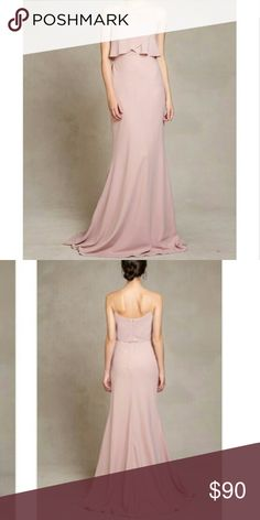 "Jenny Yoo Blake bridesmaid dress Jenny Yoo Blake dress in Whipped Apricot. Perfect condition. Worn once. Professionally hemmed. I'm 5'3"" and wore 3"" heels with the dress. Jenny Yoo Dresses Maxi"