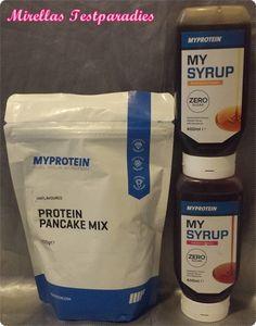 Über Produkttest-Online durfte ich den Protein Pancake Mix und zwei Sorten des My Syrups von Myprotein testen.