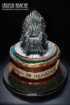 Game of Thrones Cake Bolo Game Of Thrones, Game Of Thrones Birthday, Game Of Thrones Theme, Cakes For Men, Just Cakes, 18th Birthday Cake For Guys, Birthday Bash, Movie Cakes, Meringue Cake