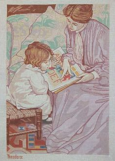 Hand Painted Needlepoint Canvas Theodora Mother by THEODORADESIGNS